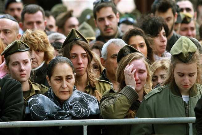 Funeral of female Israeli soldier killed in Jerusalem attack, January 2017